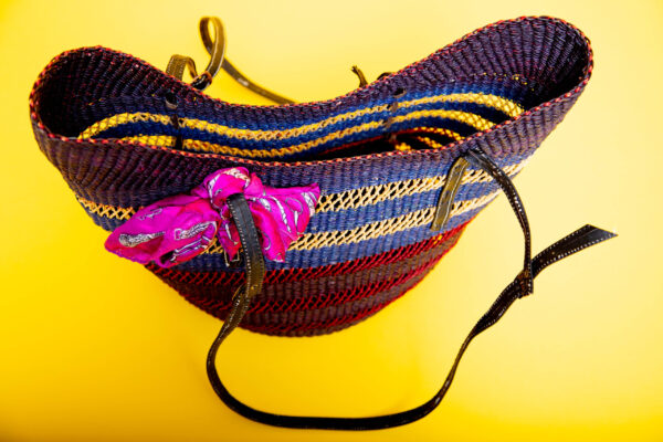handwoven shoulder bag